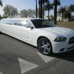 2012 Dodge Charger 140-inch White Stretch Limousine