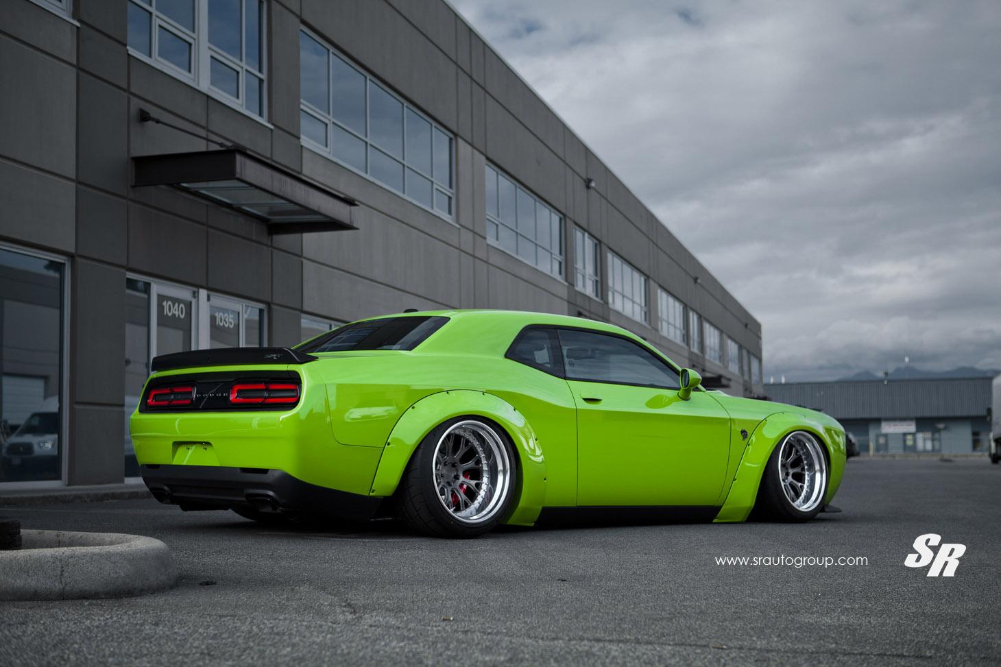 2015 Liberty Walk Dodge Challenger Hellcat Green