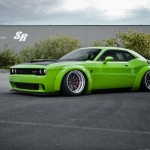 Liberty Walk Dodge Challenger Hellcat Green