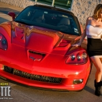 American muscle and beauty - Hot girl with Corvette