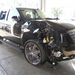 Tiger Woods and his crashed Escalade