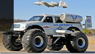 USAF A-10 Mosnter Truck - Muscle Cars Blog
