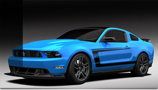 Special Grabber Blue Mustang Boss at Barrett-Jackson - Muscle Cars Blog