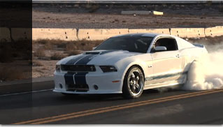 2011 Ford Mustang Shelby GT350 Massive Burnout - Muscle Cars Blog