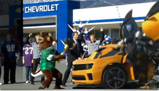 Chevrolet in Super Bowl XLV Commercial (Camaro Transformers) - Muscle Cars Blog