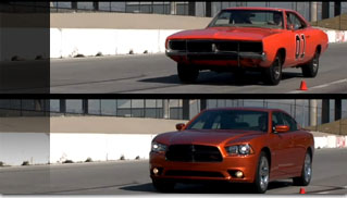 2011 Dodge Charger vs. The General Lee Track Video - Muscle Cars Blog
