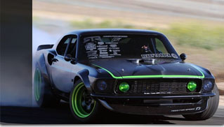 Vaughn Gittin Jr's 1969 RTR-X Mustang Smoking Tires - Muscle Cars Blog
