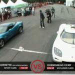 Chevrolet Corvette Z06 Supercharged vs Koenigseg CCXR
