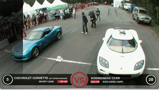 Chevrolet Corvette Z06 Supercharged vs Koenigseg CCXR - Muscle Cars Blog