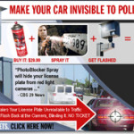 Invisible to Red-Light and Speed Cameras License Plate Spray