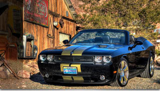 2009 Dodge Challenger Hurst Black &amp; Gold Supercharged Custom Convertible - Muscle Cars Blog