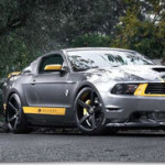 Matte Graphite & Yellow Ford Mustang with 20″ CV3s Vossen Wheels!