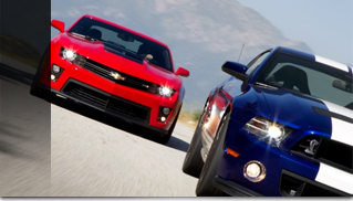 2012 Chevrolet Camaro ZL1 vs. 2013 Ford Mustang Shelby GT500 Track Test Video - Muscle Cars Blog
