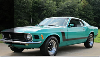 1970 Ford Mustang BOSS 302 with Marti report - Muscle Cars Blog
