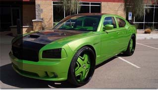 2007 Dodge Charger SRT8 SEMA show car with 30 monitors - Muscle Cars Blog