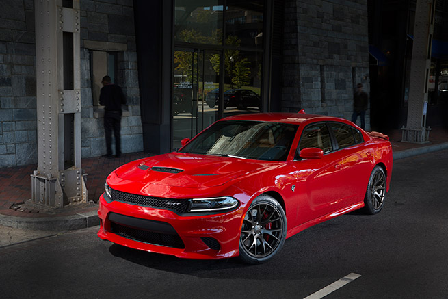 2015 Dodge Charger SRT Hellcat Red Front Angle