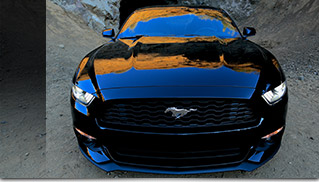 2015 Mustang at the Batcave Front