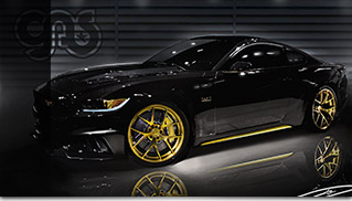 2015 GAS Ford Mustang Front Angle