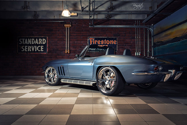 Wheelsandmore 1965 Chevrolet Corvette C2 Rear Angle