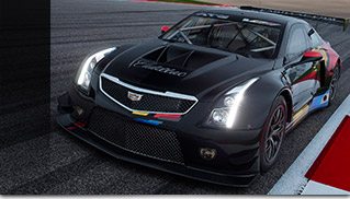2016 Cadillac ATS-V Coupe Racecar Front Angle