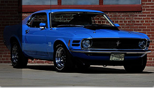 1970 Ford Mustang Boss 429 Fastback Front Angle