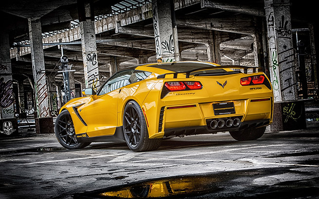 2015 Ruffer Chevrolet Corvette Stingray HPE700 Rear Angle