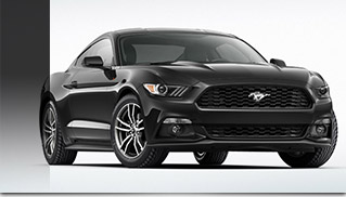 2015 Ford Mustang Black Front Angle