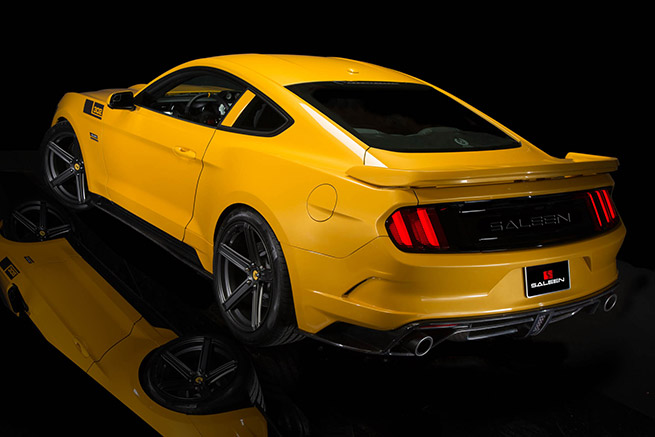 2015 Saleen Ford Mustang S302 Black Label Rear Angle