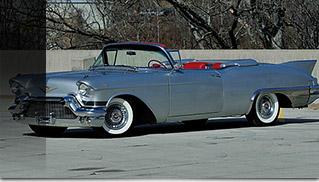 1957 Cadillac Eldorado Biarritz Convertible Front Angle