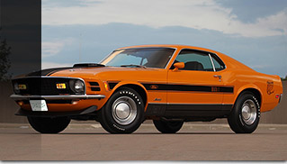 1970 Ford Mustang Mach 1 Twister Special Front Angle