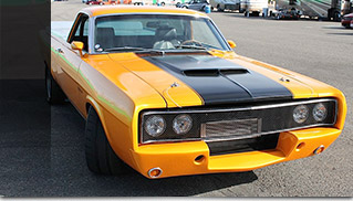 1968 GAS Ford Ranchero Front Angle