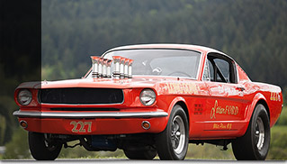 1965 Ford Mustang A-FX Holman Moody SOHC 427 CI Front Angle