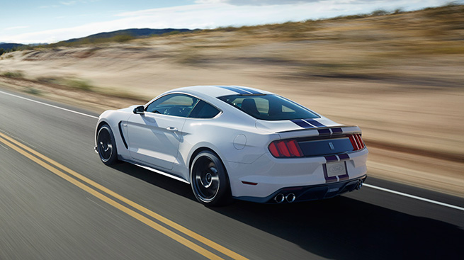 2016 Ford Mustang Shelby GT350 Rear Angle