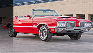 1970 Oldsmobile 442 W-30 Convertible Front Angle