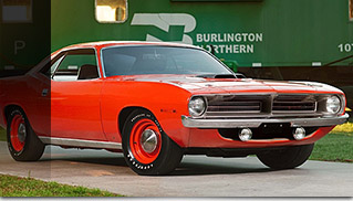 1970 Plymouth Hemi Cuda Unrestored Front Angle