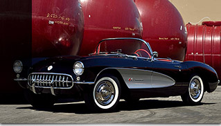 1957 Chevrolet Corvette Convertible 283-250 HP Front Angle