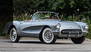 1957 Chevrolet Corvette Convertible 283 CI 4-Speed Front Angle