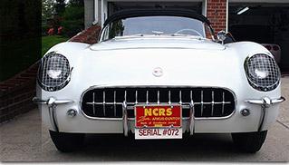 1953 Chevrolet Corvette Roadster Front Angle