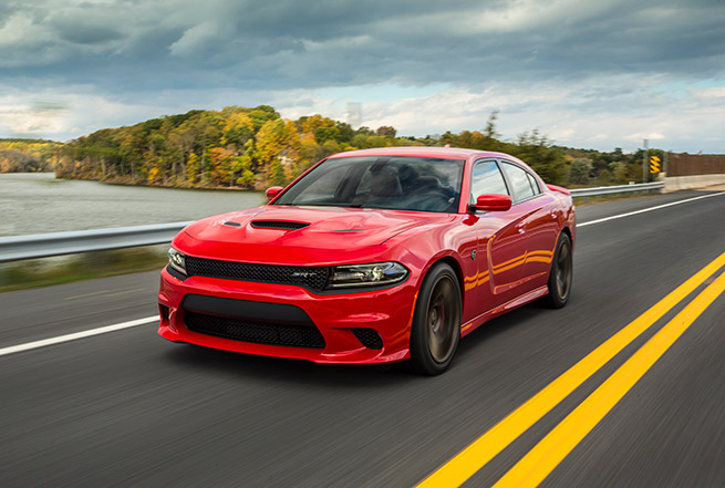 2015 Dodge Charger SRT Hellcat Front Angle Dynamic
