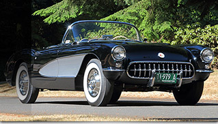 1957 Chevrolet Corvette Convertible Front Angle