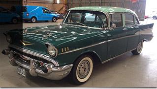 1957 Chevrolet Bel Air 4.6 Sedan Saloon Front Angle
