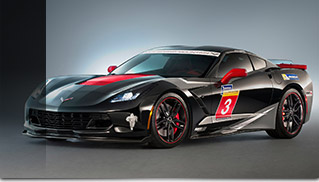 2016 Chevrolet Corvette Z06 Stingray Track Car Front Angle