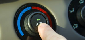 Turning on the AC in a hot car