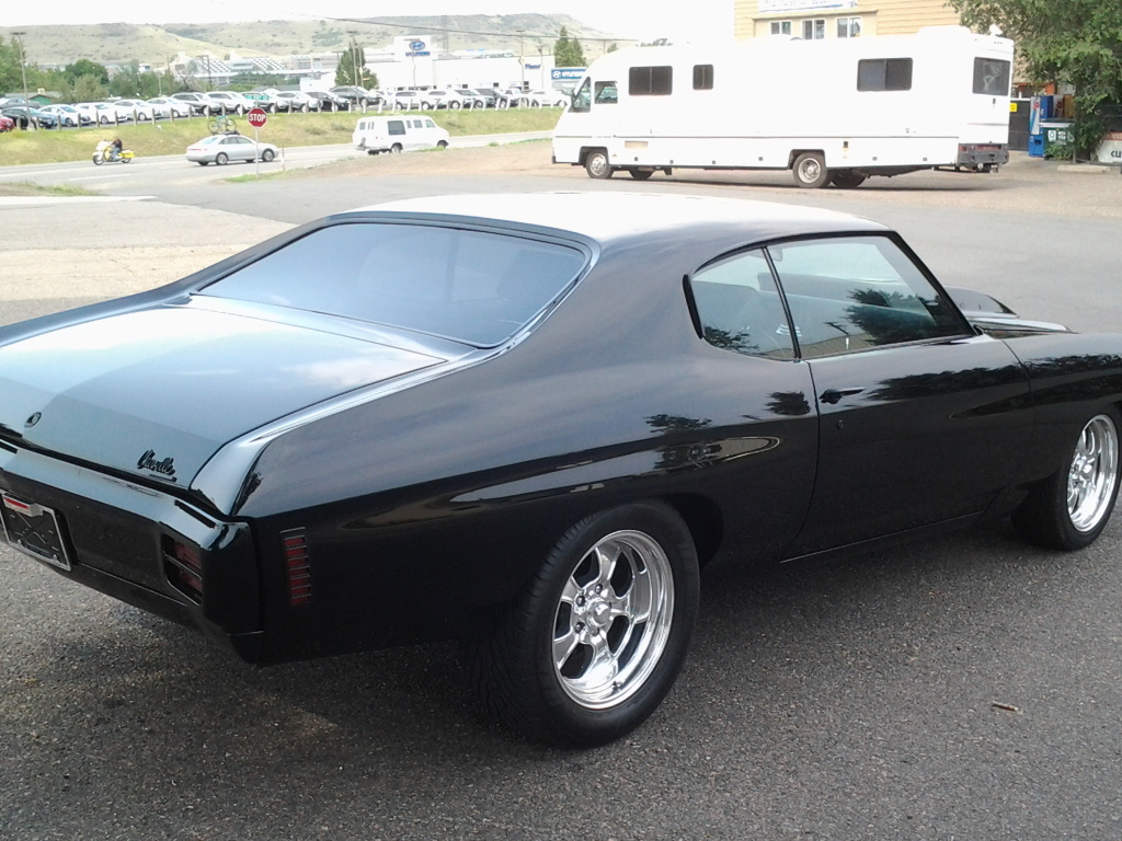 1970 chevrolet chevelle custom 2 door coupe muscle cars news and this 1970 chevrolet chevelle has awesome look the car is completely painted black on black on black sciox Choice Image