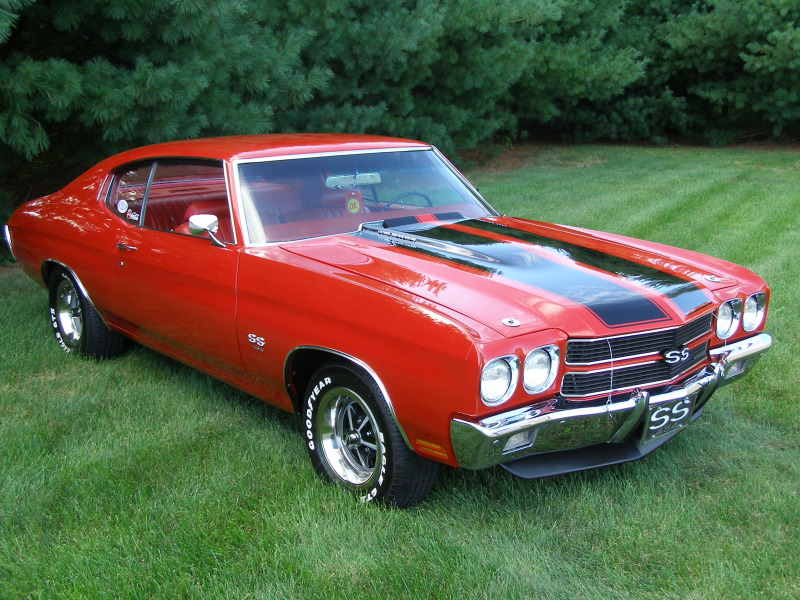 1970 Chevrolet Chevelle Ss Ls6 Red On Red Muscle Cars