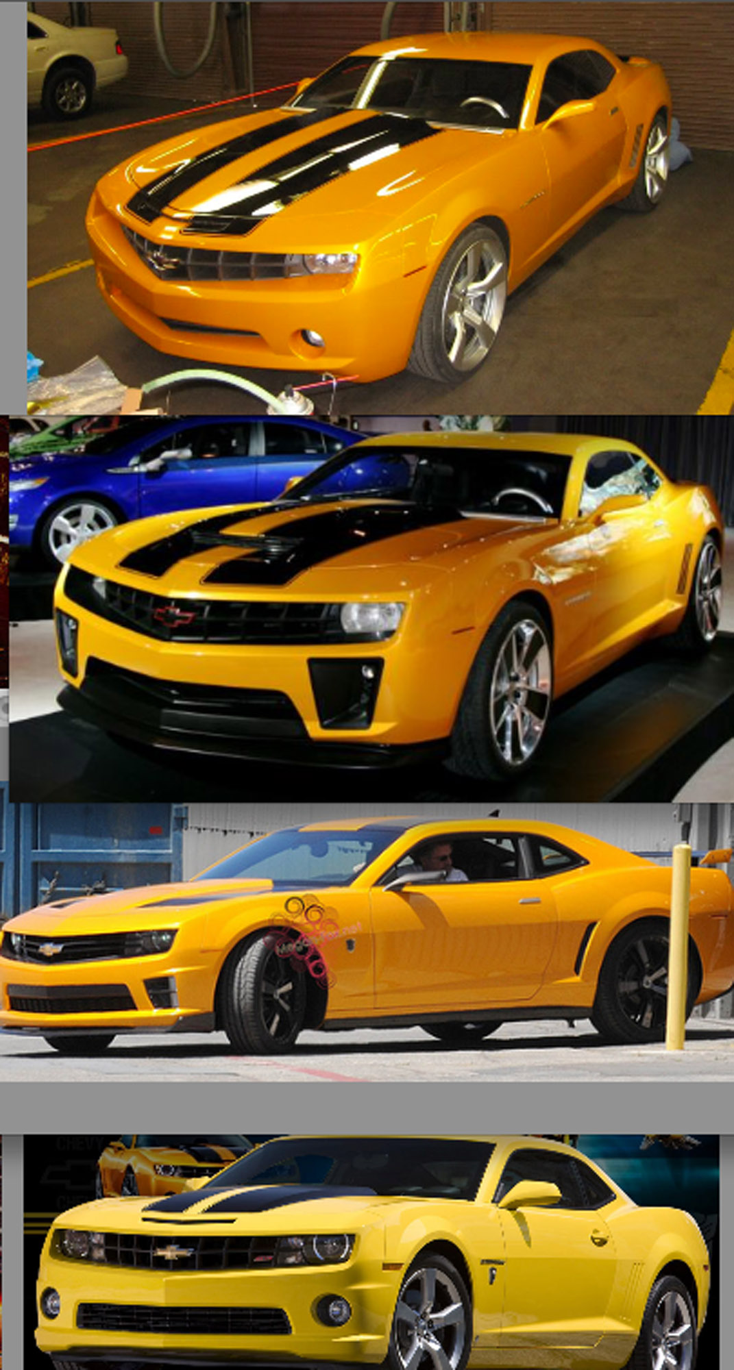 Transformers 3 Autobot Bumblebee Revealed Muscle Cars