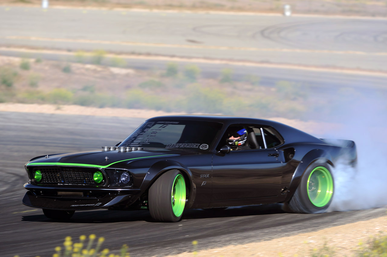 Vaughn Gittin Jr's 1969 RTR-X Mustang Smoking Tires - Muscle Cars News and Pictures