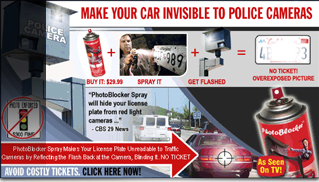 Invisible to Red-Light and Speed Cameras License Plate Spray - Muscle Cars Blog