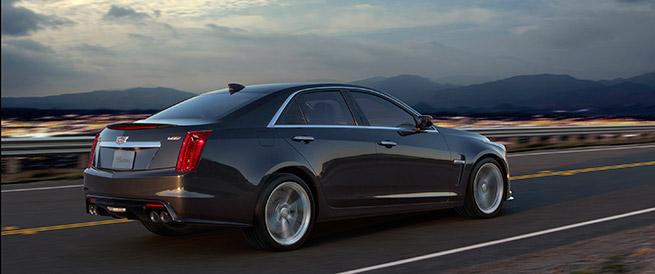 2016 Cadillac CTS-V Rear Angle