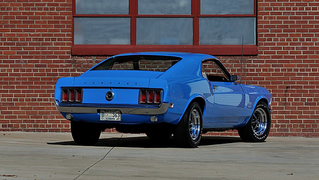 1970 Ford Mustang Boss 429 Fastback Rear Angle